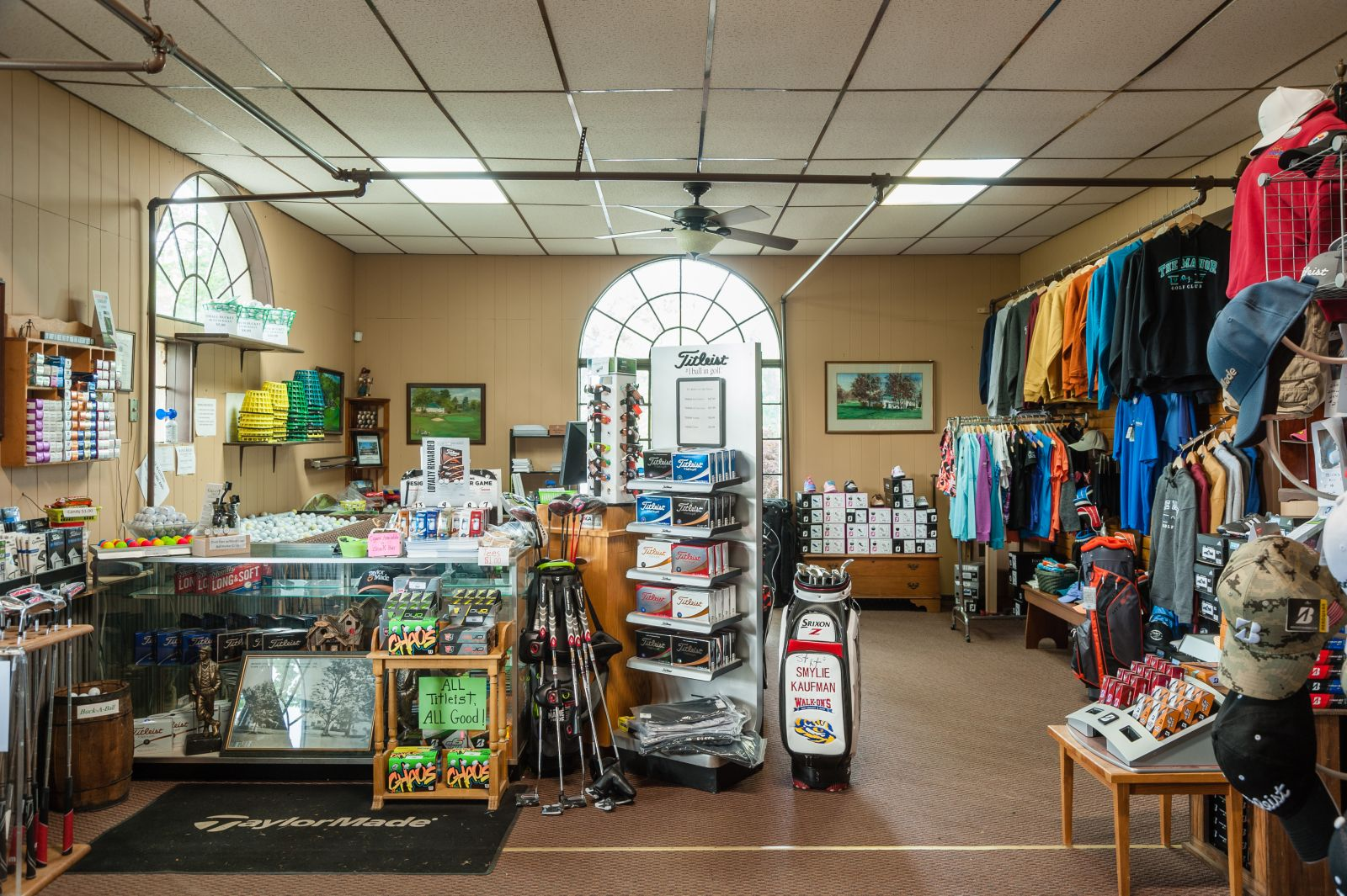 The pro shop in The Manor Golf Club in Sinking Sprin, PA